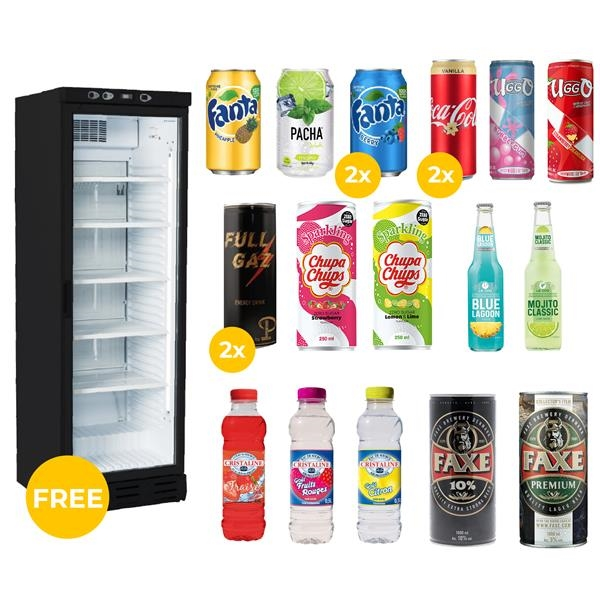 Offer fridge 2021 (196 cm H x 61 cm W x 67 cm D) with free imported drinks